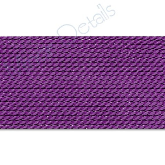 Griffin Silk Cord Thread Size 4 - AMETHYST with Needle (2) 42232