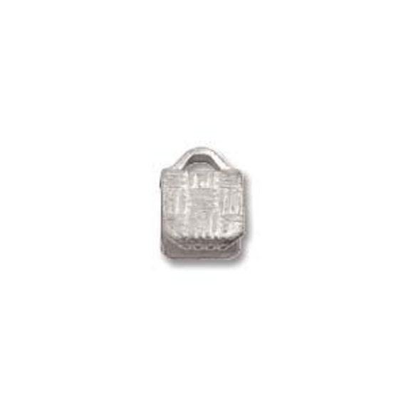 5mm Nickel Plate Ribbon Crimp End Clamp (50) 25023
