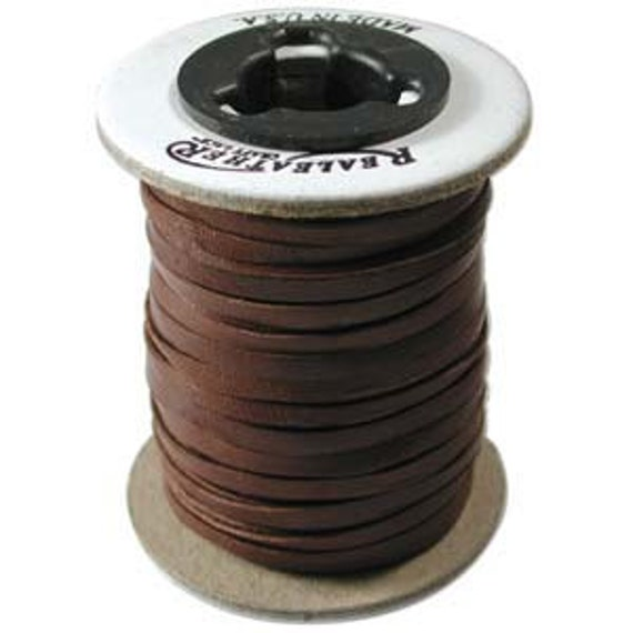 Deerskin Lace Leather Cord String 1 Spool 50 Feet 1/8 Inch CHOCOLATE 42881