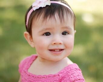 Beautiful Pink Hydrangea Flower Headband- Newborn infant toddler tween teen adult