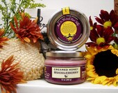 Pure Creamed Honey Spread  HUCKLEBERRY  12 oz. jar Raw Honey