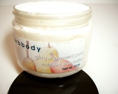 GINGER ALMOND PEAR Whipped Shea Body Butter - 8 oz Jar