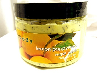 Lemon Poppyseed Creamy Sugar Scrub