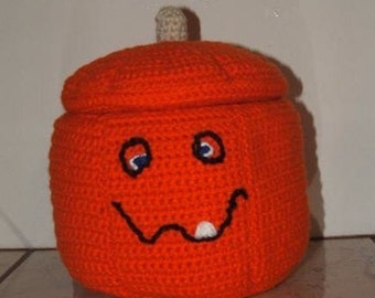 Crochet Pattern-Jack O'Lantern Container