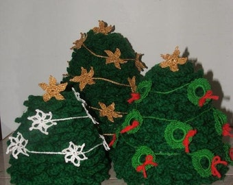 Crochet Pattern-Stacking Christmas Tree Trio