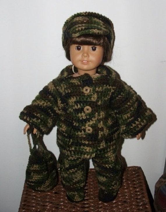 Crochet Pattern-Just Like My Hero-Military