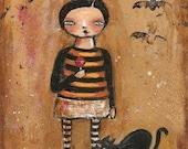 folk art painting Kids that Creep Original