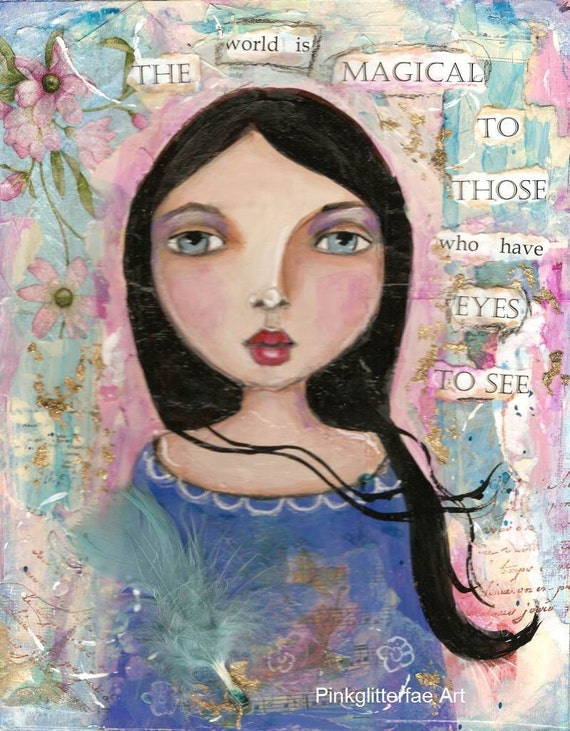 RESERVED for Estellel Original mixed media painting