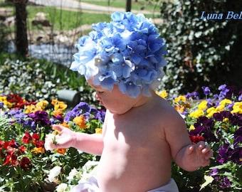 Luna Bella Blue Hydrangea Petal Hat