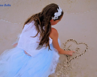"""Luna Bella """"Clair"""" Couture Tutu Skirt, Chidlren and Adult Size"""