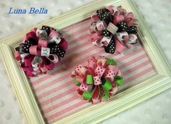 Luna Bella Ribbon Puff Hair Clip