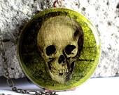 Image Locket - Green Skull