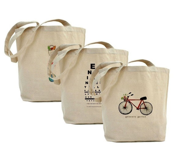 Grocery Reusable Bags SAVINGS PACK of 6 for the Store by Melissa Vest Designs