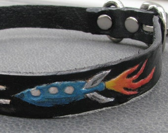 Leather Dog Collar - ROCKET DOG