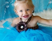 Princess birthday Tutu DRESS with matchign headband and wand you pick the color/colors
