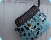 Vine Garden- Pleated and Embellished Zipper Purse