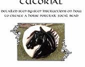 Kerribeads Tutorial Lampwork Black Stallion Focal Bead - Instant Download PDF file