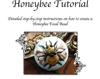 Kerribeads Tutorial Lampwork Honeybee Focal Bead - Instant Download PDF File