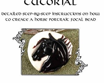 Kerribeads Tutorial Lampwork Black Stallion Focal Bead - Instant Download PDF file