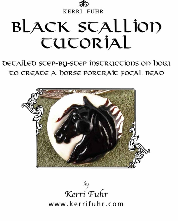 Kerribeads Lampwork Black Stallion Focal Bead pdf Tutorial