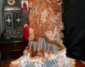 Custom Bespoke Silk Velvet Bustle Belt