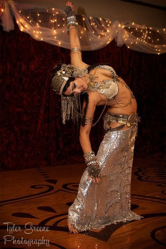 Belly Dance Super Stars Ready, Super Deluxe Tribal Belly Dance Costume. Two part payment plan available.