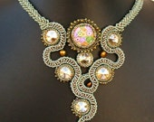 RESERVED for sunflowersunflower - Rosario Deluge Necklace