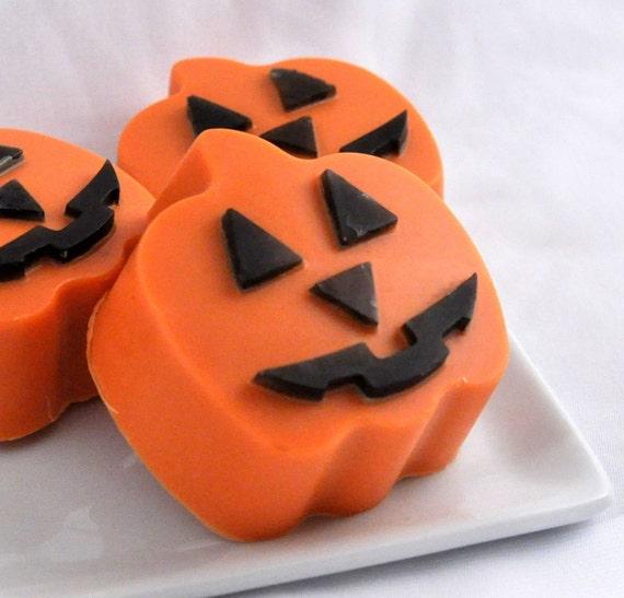Halloween Pumpkin Soap - set of 2