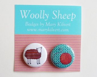 Woolly Sheep - Badges