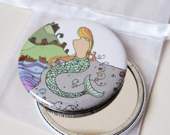 Mermaid - Pocket Mirror