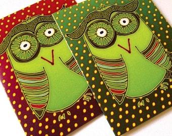 Christmas Card - Christmas Owl - Card set of 8