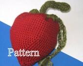 PDF Pattern - Crocheted Strawberry Wristlet