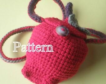 PDF Pattern - Crochet Apple Purse