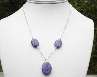 Charoite Sterling SIlver Necklace