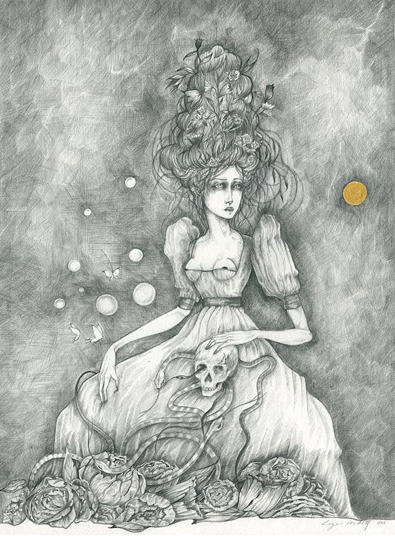 ORIGINAL Drawing - Vanitas II