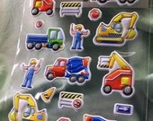 Construction zone stickers FREE US SHIPPING