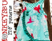 Ruffled Crossover Swing Top PDF eBook Pattern INSTANT DOWNLOAD