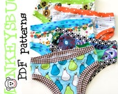 Knit Hipster or Bikini Briefs for Girls PDF eBook Pattern INSTANT DOWNLOAD