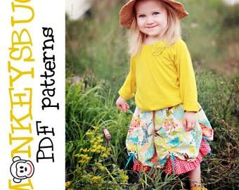 Festival Bustle Skirt PDF eBook Pattern INSTANT DOWNLOAD