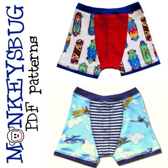 Knitting Underwear Pattern : Knit boxer briefs for boys pdf ebook pattern instant download