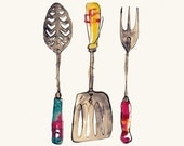 Three Utensils - Print (A5)