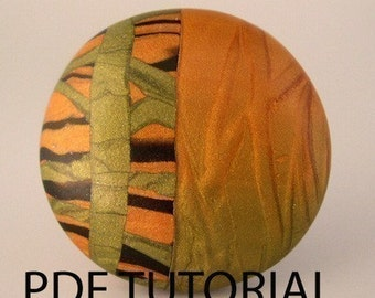 Polymer Clay Tutorial - Modern Mica Bead or Pendant