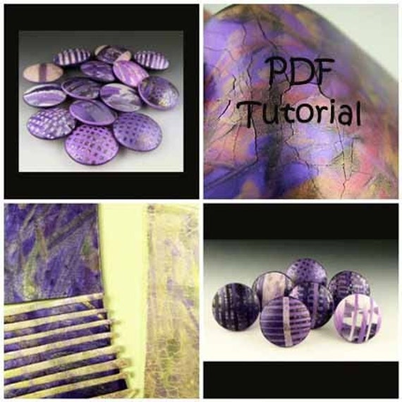 Polymer Clay Tutorial, PDF, Crackling Lentil Beads With Polymer Clay