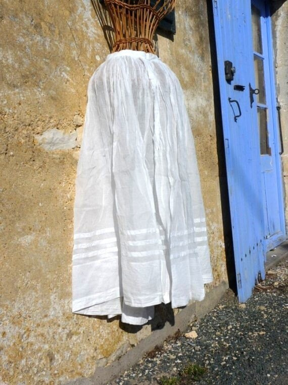 Claudine  circa 1900s French Antique victorian communion skirt