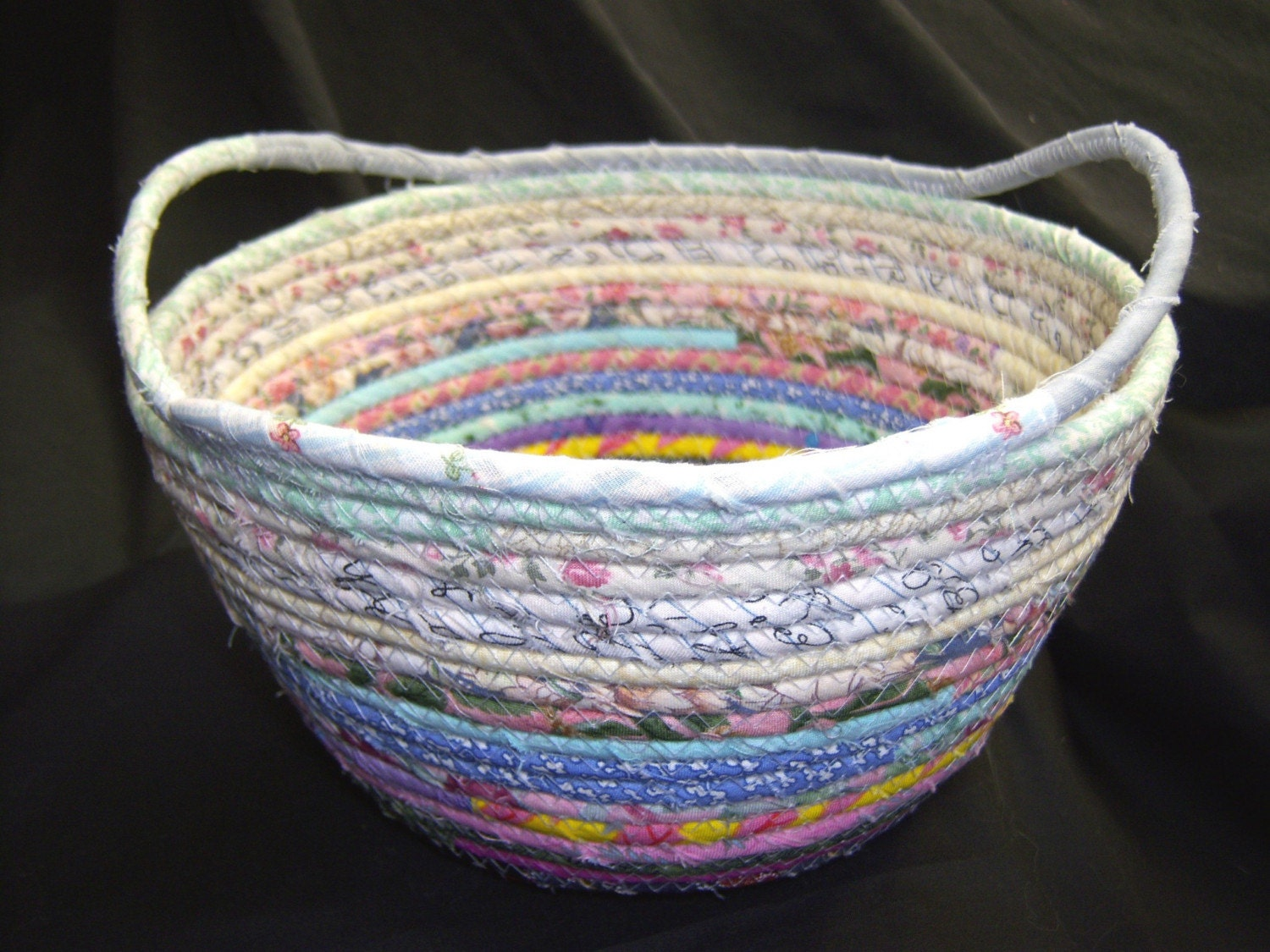 Large Soft Woven Fabric Basket By Summerstreettextiles On Etsy