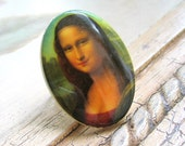 Vintage Cabochon Ring Mona Lisa Smiles