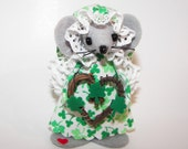 Colleen..an Irish Mouse...one of the cute St Patrick's felt mice by Warmth