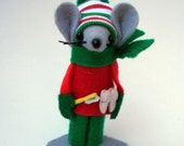Felt Mice Ornament Dentist Christmas Ornament Handmade Dr Gift Whimsical Tree Ornament by Warmth
