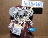 Felt Mice Bird Watcher Mouse Birding Gift Felt Mouse Environmental Mouse by Warmth