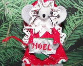 Felt Mice Needlepointer Felt Mouse Stitcher Noel Christmas Ornament by Warmth